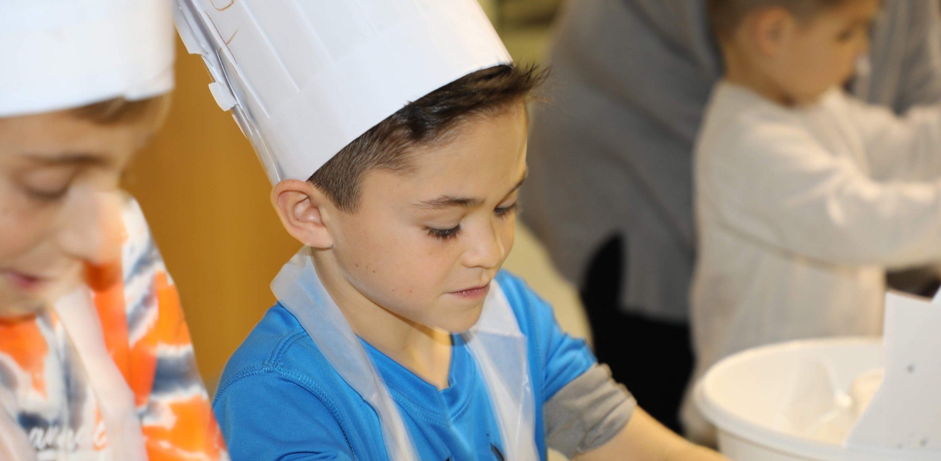 Boy at Hebrew School