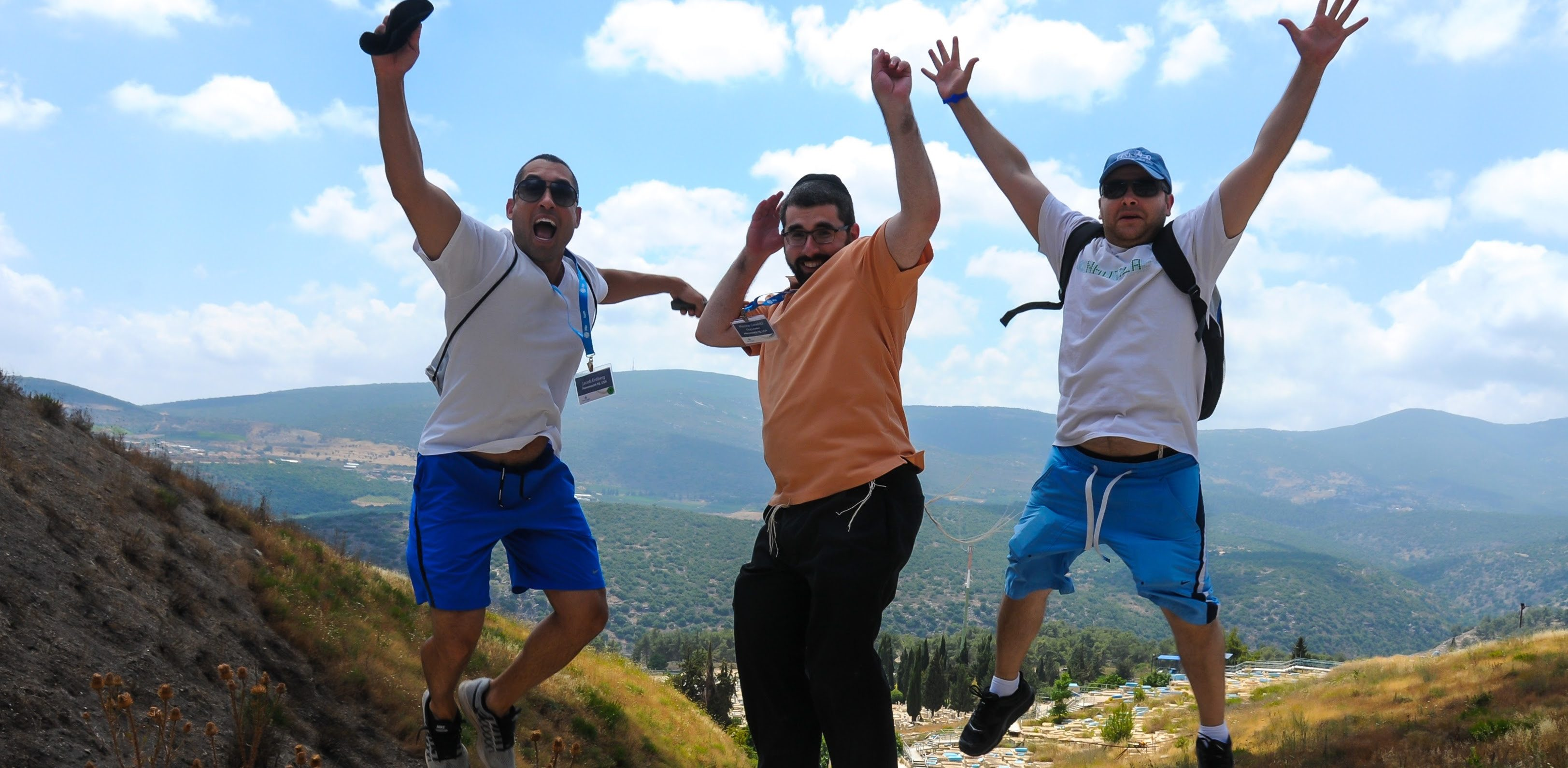 Jumping on Men's Israel Trip